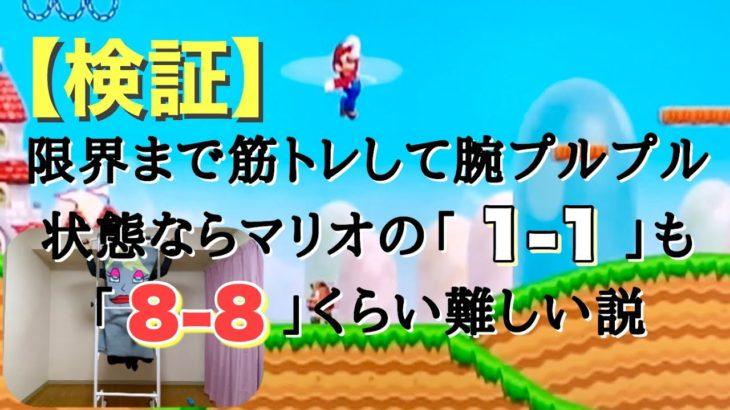 【筋トレ×マリオ】腕立て100回、懸垂100回した後にマリオをやったらとんでもない事に!!