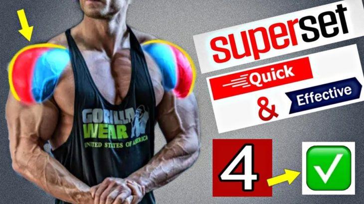 ⚡️4 TOP SHOULDER SUPER-SET EXERCISES 2020⚡️筋トレ 音楽⚡️운동 음악⚡️ Para Hacer Ejercicio