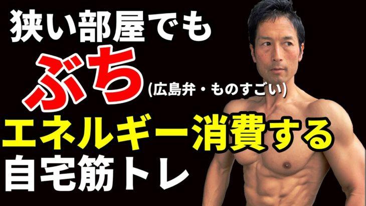 狭い部屋でも「ぶち」エネルギー消費する自宅筋トレ!全身同時にトレーニングして体脂肪を減らせ!三頭筋・腹筋・二頭筋・三頭筋・脚・大殿筋、ランジ、ダイエット!calorie burn exercise