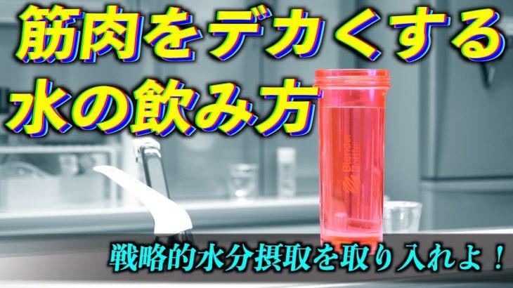 【筋トレ】水分補給の全てをここに置いてきた動画。