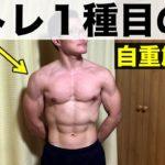 【自宅筋トレルーティーン】肩トレは自重での逆立ち腕立て1種目のみ!