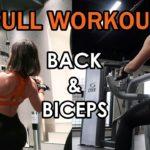 【筋トレ】Pull Day!背中と二頭筋のトレーニングメニュー!