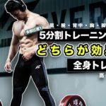 筋肥大に効率的な[トレーニング頻度]と[分割法]を解説!【筋トレ】
