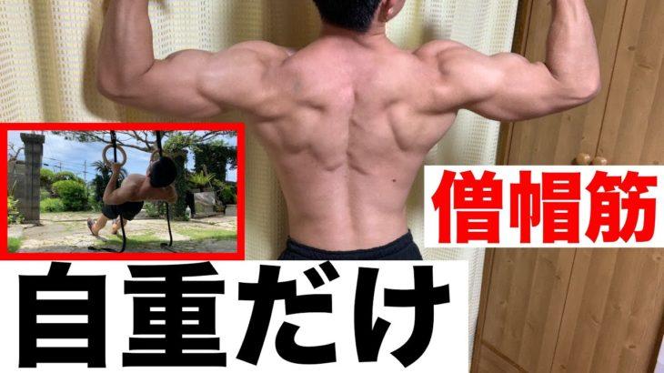【僧帽筋の自重筋トレ】上部・中部・下部全体を鍛える方法!【背中の厚み】