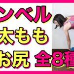 【ダンベル筋トレ】内太もも、お尻、裏太ももを集中的に鍛える全8種目