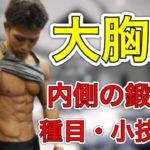 【筋トレ】大胸筋内側を鍛える方法!簡単小技紹介
