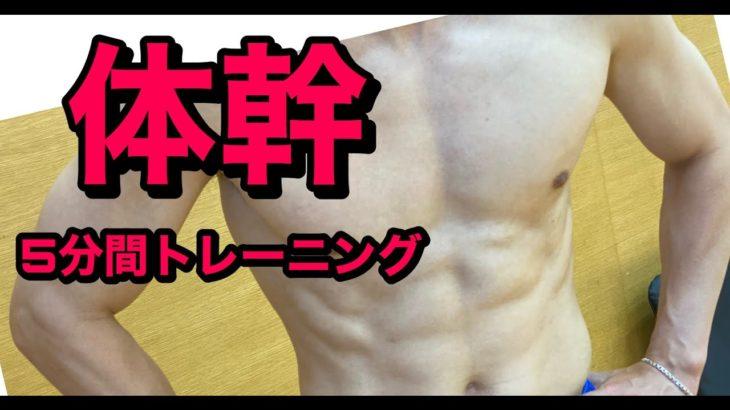 【筋トレ】たった5分!松平賢二とやる体幹トレーニング!【作業用】