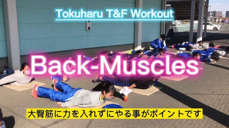 徳栄T&F 筋トレ紹介Vol.2【Back-Muscles】