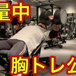 【筋トレ】増量中の胸トレ公開!【胸トレ】