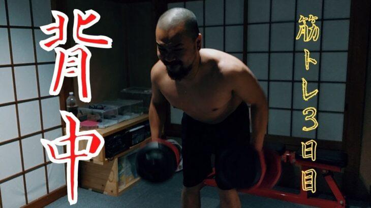 【筋トレ】自粛で怠けた体を叩き直す筋トレ【背中】DAY3 workout again after being fat during quarantine back day