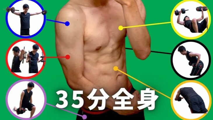 【筋トレ初心者向け家トレ】ダンベルで実践できる全身トレーニング