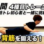【2分筋トレ】お家でできる背筋トレーニング!