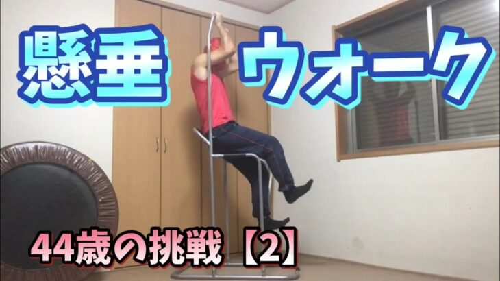 【筋トレ】懸垂ウォーク!空中散歩!44歳の挑戦vol.2