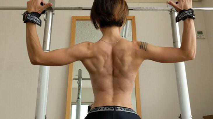 【筋トレ女子】ゆるり女の背中の育成トレーニング【ホームトレーニー】流し見、モチベーション