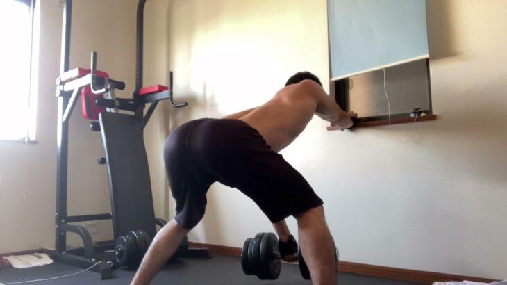 【筋トレ】ある日の背中トレーニングです。